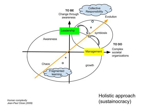 The holistic society has very different characteristics than any society before